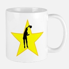 Volleyball Spike Silhouette Star Mugs