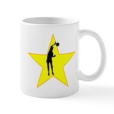 Volleyball Spike Silhouette Star Mugs