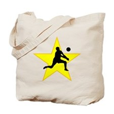 Volleyball Set Silhouette Star Tote Bag