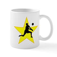 Volleyball Set Silhouette Star Mugs