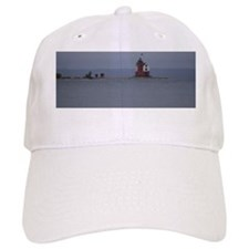 Round Island Lighthouse and Outbuildings Baseball Cap