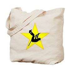 Pole Vaulter Silhouette Star Tote Bag