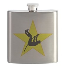 Pole Vaulter Silhouette Star Flask