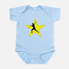 Javelin Throw Silhouette Star Body Suit