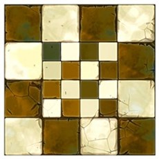 Cracked Tiles - Brown Wall Art Poster