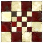 Cracked Tiles - Red Wall Art