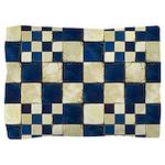 Cracked Tiles - Blue Pillow Sham