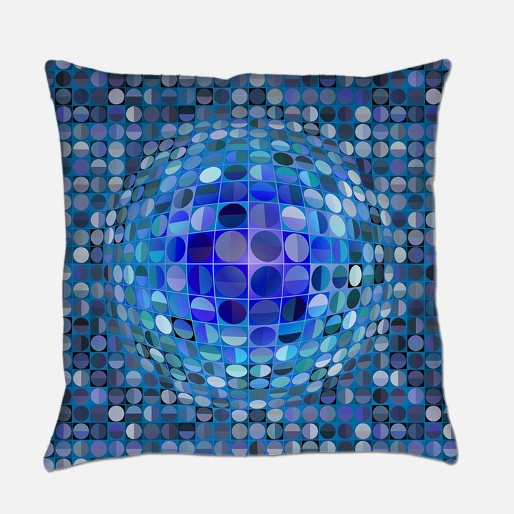 Optical Illusion Sphere - Blue Master Pillow