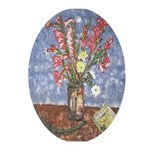 New Orleans Art Glads Oval Ornament