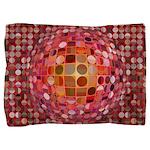 Optical Illusion Sphere - Pink Pillow Sham