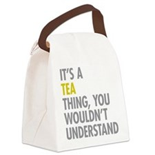 Its A Tea Thing Canvas Lunch Bag