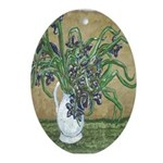 New Orleans Art Swamp Iris Oval Ornament