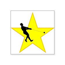 Hammer Throw Silhouette Star Sticker