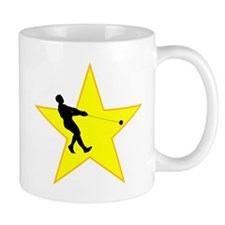Hammer Throw Silhouette Star Mugs