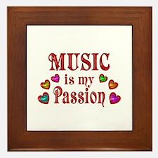 Music Passion Framed Tile