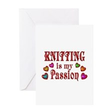 Knitting Passion Greeting Card