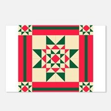 Christmas Star Quilt Bloc Postcards (Package of 8)