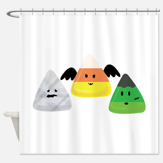 Candy Corn Monsters Shower Curtain