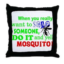 MOSQUITO!! Throw Pillow