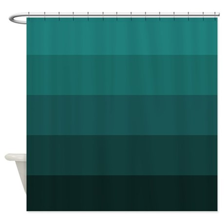 Color Bands Teal Shower Curtain By Jqdesigns