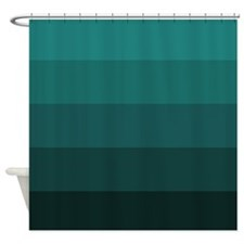 Color Bands (teal) Shower Curtain