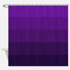 Color Bands (purple) Shower Curtain