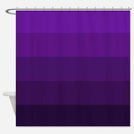 Color Bands (purple) Shower Curtain