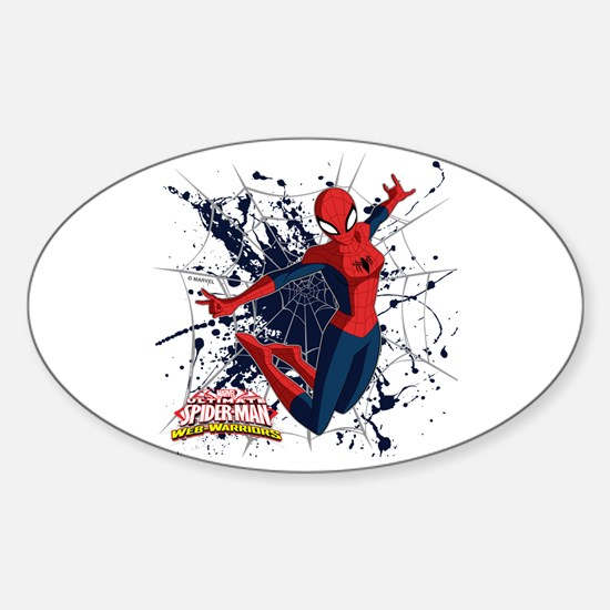Spider-Girl Web Sticker (Oval)