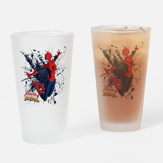 Spider-Girl Web Drinking Glass