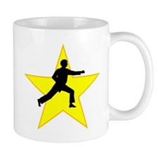 Karate Punch Silhouette Star Mugs