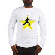 Karate Punch Silhouette Star Long Sleeve T-Shirt