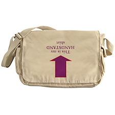 Handstand Shirt Messenger Bag