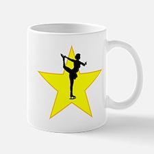 Figure Skate Silhouette Star Mugs