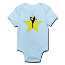 Figure Skate Silhouette Star Body Suit