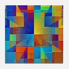 Kaleidoscope of Color Tile Coaster