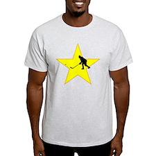 Hockey Player Silhouette Star T-Shirt