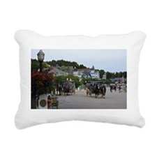 Funny Cottages Rectangular Canvas Pillow