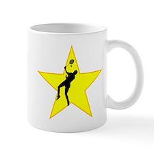 Badminton Player Silhouette Star Mugs