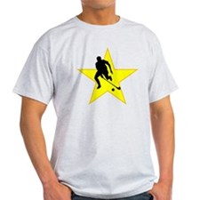 Field Hockey Player Silhouette Star T-Shirt