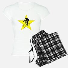 Cyclist Silhouette Star Pajamas