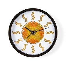 Sun Tiger Wall Clock