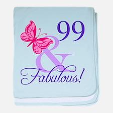 Fabulous 99th Birthday baby blanket