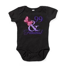 Fabulous 99th Birthday Baby Bodysuit