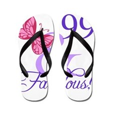 Fabulous 99th Birthday Flip Flops