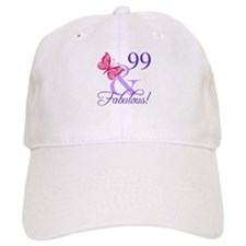 Fabulous 99th Birthday Baseball Cap