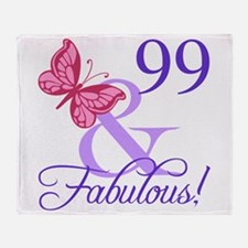 Fabulous 99th Birthday Throw Blanket