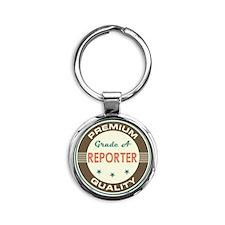 Reporter Vintage Round Keychain
