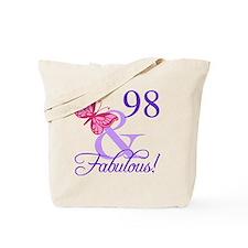 Fabulous 98th Birthday Tote Bag