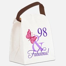 Fabulous 98th Birthday Canvas Lunch Bag