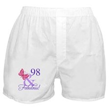 Fabulous 98th Birthday Boxer Shorts